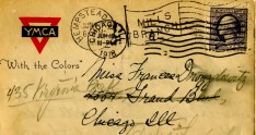 Detail of card. Sent from Hempstead in June of 1918.